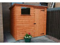 new garden sheds in 16mm weatherboard 8x6 430