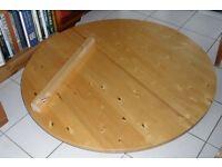 Extendable dining table 130cm diameter