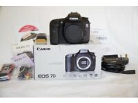 Canon 7D Digital SLR in lovely condition, Boxed and Complete