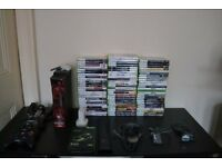 Xbox 360 Elite - 4 Controllers - 70 Games - Wireless Adapter + LOTS MORE! - Open to a trade