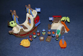 Happyland Pirate Ship and Pirate Island bundle