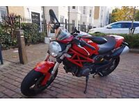 Superb, solid red, naked Ducati Monster 796 with ABS in excellent condition