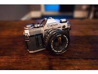 Canon AE-1 w/ 3 Lenses - £125.00