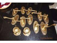 """Solid Brass """"Georgian"""" style door handles"""