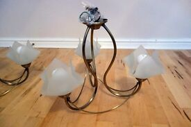 Brass Chandelier style ceiling lights