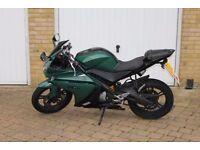 Yamaha R125-Custom British Racing Green-All paperwork and registration