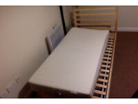 Single Bed with Cot