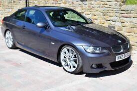 "BMW 335d M Sport Coupe Auto, Nav, 19"" Alloys, Bluetooth, Dakota leather, 3.0ltr 6-cyl Turbo"