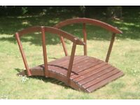Quality Garden Ornament - Hardwood Ornamental Wooden bridge