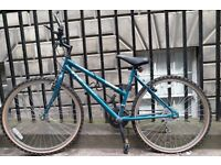 Ladies bike + Free extras (helmet, bike lock, bike lights)- Flat tires but otherwise good condition