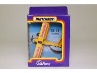 Excellent condition Matchbox Cadbury Crunchie plane
