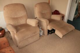 Electric reclining chairs x2