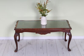 LOUIS STYLE COFFEE TABLE WITH GLASS INSERT- PAINTING PROJECT - CAN COURIER - FREE LOCAL DELIVERY