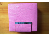 Jewellery box by Dulwich designs: pink snake skin effect leather. £5 ovno.