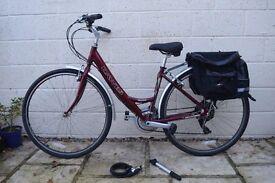 Ladies Bike - Dawes Mojave 21 gears - 17 inch frame - with accessories.