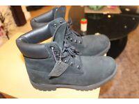 New Black Timberland Boots Size 8.5