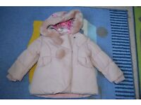 MONSOON girls jacket 18-24 months NEW and hat