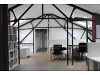 Warehouse Office, Studio & Creative Space in East London. Private Office & Open Plan from 10 Poeple
