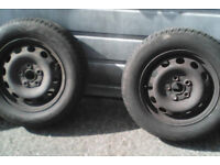 2 matching 195/65 R 15 91V Maxis tyres with 8 mm + tread( virtually new )