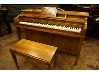 American console piano by Cable - Includes matching bench - Tuned and UK delivery available