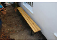 6.5ft Wooden Foldaway Bench