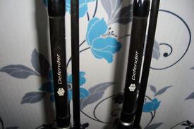 2x jrc defender carp rods