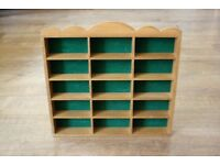 Vintage Wooden Small Display Shelf