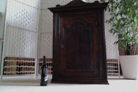 Antique carved oak corner cupboard - early 1800's?