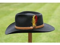 Akubra 'Snowy River' hat. Size 58. Made in Australia