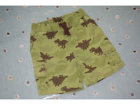 Gymboree Baby Dinosaur Mighty Green Shorts, 18-24 months.