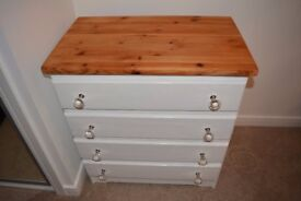 White Wooden Drawers with interchangeable knobs