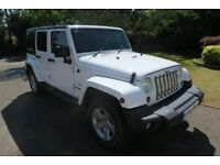 JEEP WRANGLER SAHARA UNLIMITED in immaculate condition,24626 miles, 5 Door, Registered 30.12.13