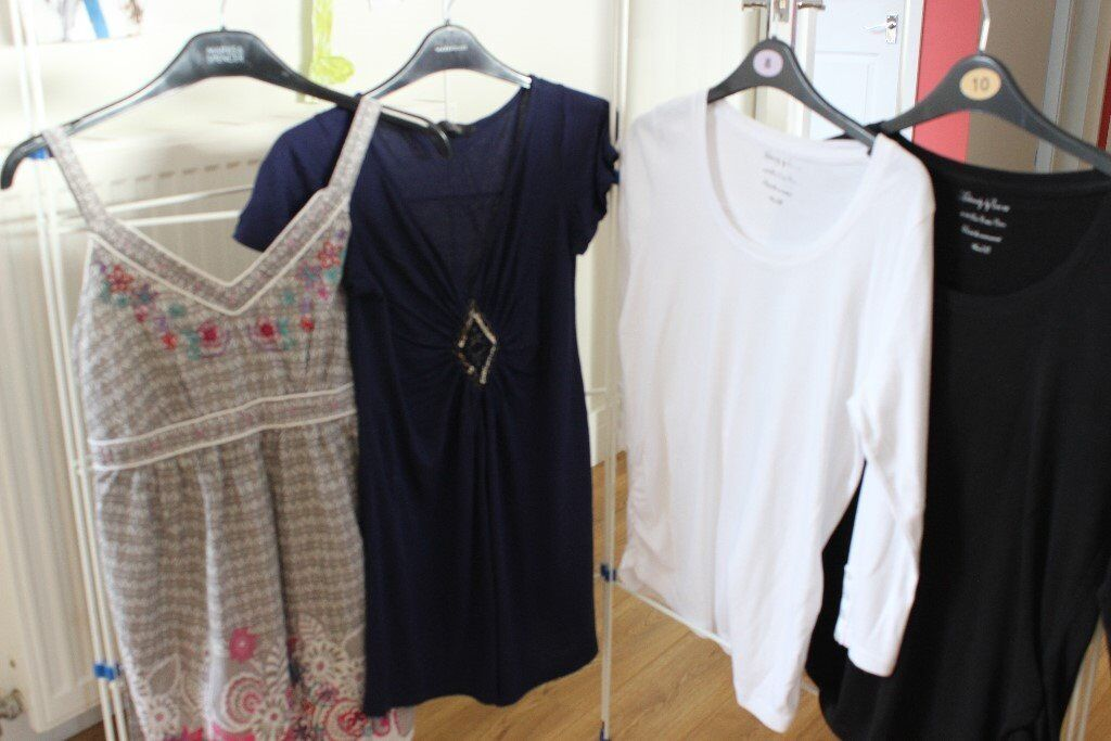 Maternity Clothes Bundlein Dunfermline, FifeGumtree - Maternity clothes. Sizes 10, 12 4 tops 2 pairs leggings 2 pairs cropped black trousers 1 ASOS white skinny jeans BNWT 1 black skinny jeans 1 ASOS dress 1 New Look dress Collect Saline £25