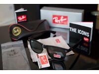 Rayban Wayfarers Matt Black stunning sunglasses unisex for men and women
