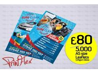 Bargain! 5000 A5 Leaflets £80! + 250 BizCards £10! Check our Facebook 4 more Offers!