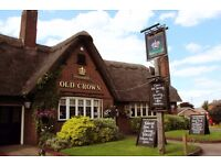 Kitchen Porters Required at The Old Crown, Girton, Cambridge