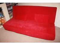 3-Seater Sofa Bed with 2 Cushions and under seat storage