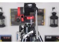 Heavy Duty Professional Video Camera Tripod Fluid Head Pan Tilt 1.8m - Used