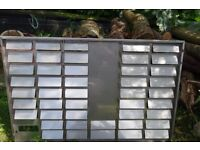 Stainless steel louvre panels