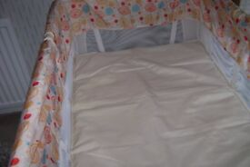 Baby safe travel cot
