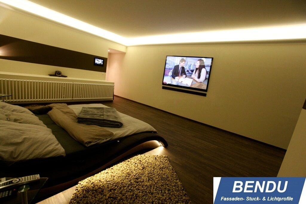 montageset bendu led stuckleisten f r indirekte. Black Bedroom Furniture Sets. Home Design Ideas