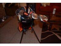 Texan golf bag, Callaway Driver, Taylor Made 3 Wood, Adams 4 Wood w/Aldila shaft--NICE!!
