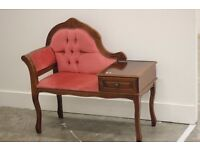 French Louis style retro chair/telephone table