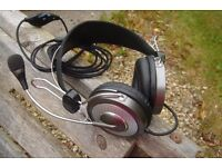 Gaming Headphones With Gooseneck Microphone Gaming, Flight Sim, Skype