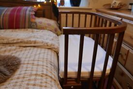 BabyBay side cot with foam mattress and bamboo cover