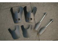3 Pairs of Shoe & Boot Shape Retainers