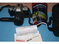 Pentax MZ 50 camera with lens & accessories