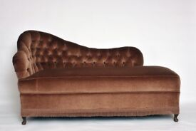 Chaise Longue lightish brown in colour - good condition Size approximately