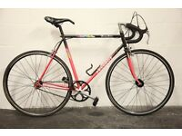 "Vintage Men's PEUGEOT Racing Team Road Bike - 22.5"" - Fixie / Single Speed - New Tyres & Parts"