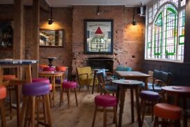 Friendly Limehouse Pub seeks bubbly, smiley new part timer